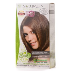 Naturigin - Naturigin Organik Saç Boyası Bakır Kahve 4.6