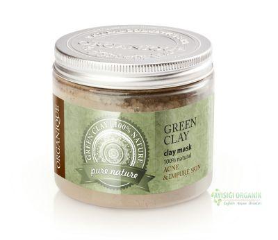 Organique Kil Maskesi Yeşil Yağlı ve Akneli Ciltler 200ml