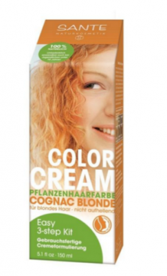 Sante - Sante Organik Krem Saç Boyası Konyak Sarısı 150ml.
