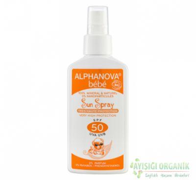 Alphanova Sun Spray Bebekler için - SPF 50 Faktör
