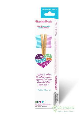 Humble Brush İkili Diş Fırçası Pembe - Mavi