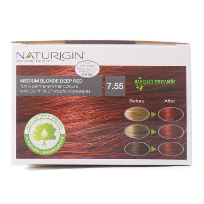 Naturigin Organik Saç Boyası Alev Kızılı 7.55