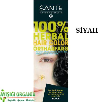 SANTE Organik Bitkisel Toz Saç Boyası (Siyah) 100gr